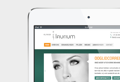 Kliniek Laurium website iPad