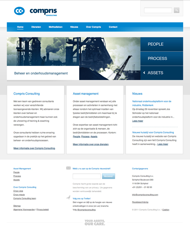 Website Compris Consulting homepage
